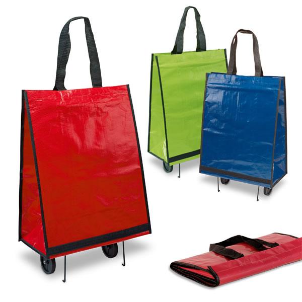 Chariot de courses trolley bagage sac personnalis publicitaire - Chariot de plage pliable ...