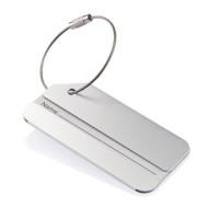 Porte étiquette bagage personnalisé en aluminium