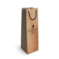 sac bouteille vin papier publicitaire quadrichromie Dimensions : 10 x 38 x 10 cm