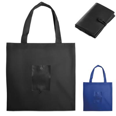 Sac pliable bleu ou noir personnalisable publicitaire