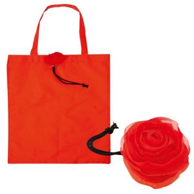 Sac shopping pliable Rose fleur publicitaire