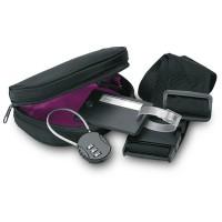 Set de voyage publicitaire (ceinture valise cadenas, étiquette bagage)