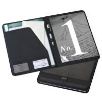 Conférencier publicitaire A4 personnalisable. Bloc papier et rangement documents
