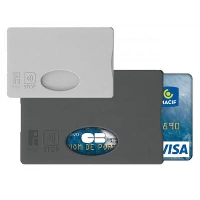 Etui Carte bancaire Anti RFID protection paiement sans contact publicitaire personnalisé Couleur : noir ou gris