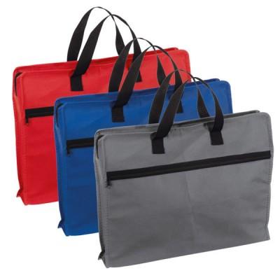 Porte documents personnalisé pour conférence et congrès ou cadeau d'affaires coloris disponibles : bleu gris rouge
