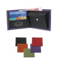 Porte-monnaie personnalisé en simili cuir avec une poche billet, une poche pour la monnaie à fermeture par bouton pression et 3 rangements carte de crédit