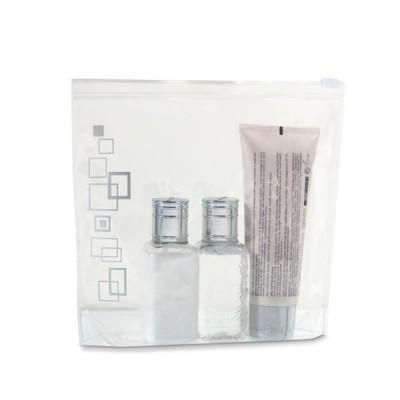 Trousse à maquillage personnalisée transparente et hermétique, compacte, pratique, et taille adaptée au bagage cabine