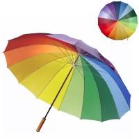 Parapluie arc en ciel personnalisé, 16 panneaux multicolore, ouverture automatique