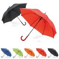 Parapluie personnalisé à ouverture automatique, 8 baleines, coloris : noir, bleu, vert, orange, rouge