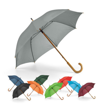 Parapluie personnalisable pas cher manche courbé