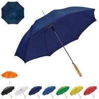 Parapluie golf personnalisé, ouverture automatique, coloris : noir, blanc, bleu marine, bleu, vert, jaune, orange, rouge