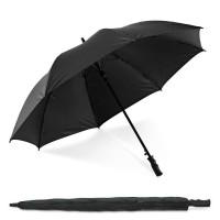 Parapluie golf personnalisé noir en fibre de verre, coupe vent, parapluie automatique, 8 baleines