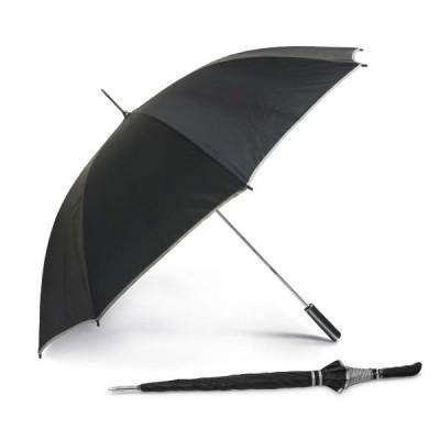 Parapluie golf personnalisé noir, 8 baleines, ouverture manuelle, poignée en Eva