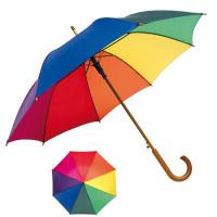Parapluie multicolore personnalisable toile arc en ciel pas cher publicitaire