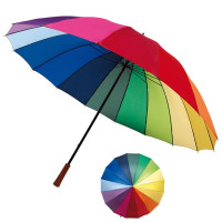 Parapluie panneau multicolore publicitaire pas cher personnalisé