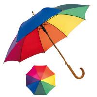 parapluie multicouleur canne automatique objet publicitaire
