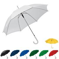 Grand parapluie personnalisé promotionnel pas cher, coloris : blanc, noir, bleu marine, bleu, jaune, vert, vert clair, rouge. Parapluie publicitaire pas cher.