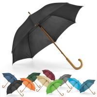 Parapluie canne personnalisé 8 baleines ouverture manuelle, coloris noir, bleu marine, bleu clair, vert, beige, bordeaux, orange, gris