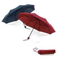 Petit parapluie personnalisé bleu ou rouge, 8 baleines, ouverture manuelle, poignée finition caoutchoutée