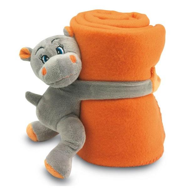 plaid peluche hippopotame bagage sac personnalis. Black Bedroom Furniture Sets. Home Design Ideas