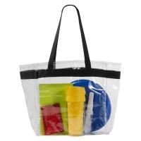 Sac shopping transparent personnalisable publicitaire. Tote bag translucide publicitaire