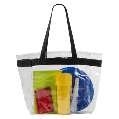 Sac shopping transparent personnalisable publicitaire. Tote bag translucide publicitaire