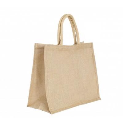 Tote bag, large sac shopping en toile de jute avec grand soufflet personnalisable publicitaire