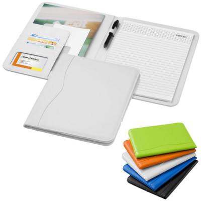 Conférencier format A4 personnalisable couverture noir, bblanc, bleu, vert, orange