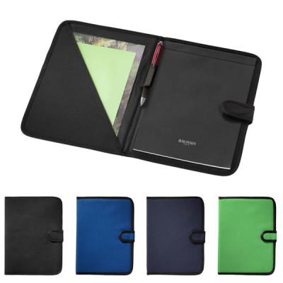 Conférencier publicitaire A4 personnalisé couverture noir, bleu, vert pas cher personnalisable