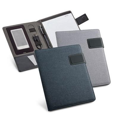 Conférencier format A5 avec bloc-notes et fermeture magnétique publicitaire personnalisable