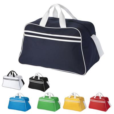 Sac de sport publicitaire personnalisé pour club firness, coloris : noir, blac, bleu, bleu clair, jaune, vert, rouge