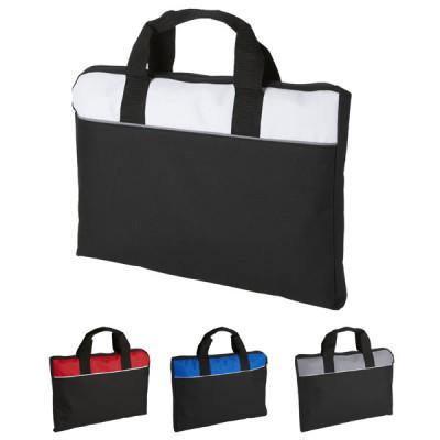 Serviette porte-documents coloris : noir, blanc, bleu, rouge. Sacoche personnalisé
