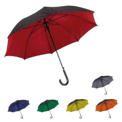 Parapluie canne bicolore personnalisable