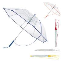 Parapluie tranparent publicitaire personnalisé avec bandoulière pas cher
