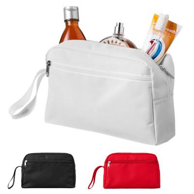 Trousse cosmétiques et toilette personnalisé publcitaire, couleur noir, blanc, rouge