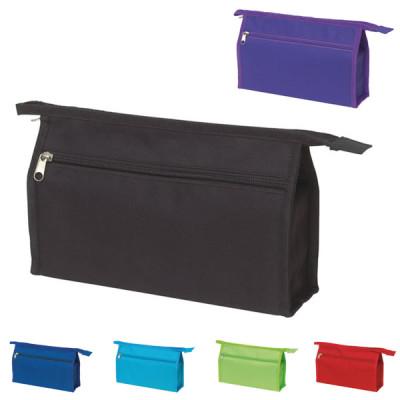 Etui maquillage trousse personnalisable pour institu de beautée couleur : noir, bleu, bleu clair, vert, rouge, violet