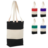 Grand totebag coton personnalisable bicolore publicitaire