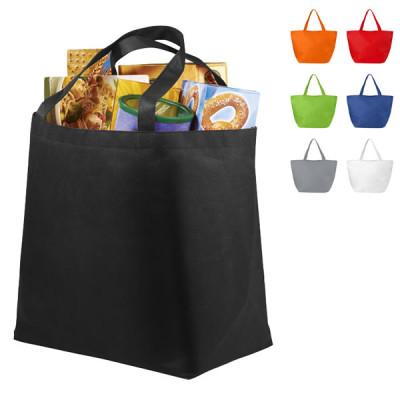 Grand sac en non tissé personnalisable sac shopping publcitaire noir, blanc, gris, bleu, vert, rouge, orange