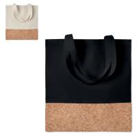 Sac en coton noir ou écru avec liège personnalisé publictaire tote bag