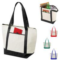Tote bag isotherme personnalisé avec anses longues. Sac isotherme publicitaire