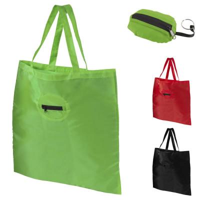 Sac pliable coloris noir, vert, rouge, personnalisable pas cher