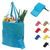 Tote bag publicitaire personnalisé pliable, noir, bleu, jaune, orange, roueg, beige