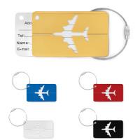 Etiquette à bagage en aluminium personnalisable publicitaire goodies or