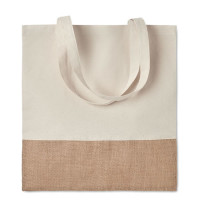 Sac shopping coton et jute personnalisable goodies