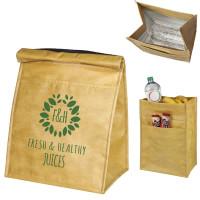 Grand sac isotherme style papier kraft personnalisé publicitaire Tote bag