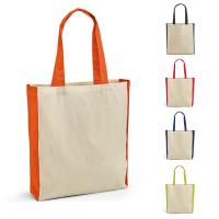 sac coton à soufflet bicolore personnalisable publicitaire